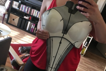 Mass Effect Armor Build- Liara breastplate before detail and weathering
