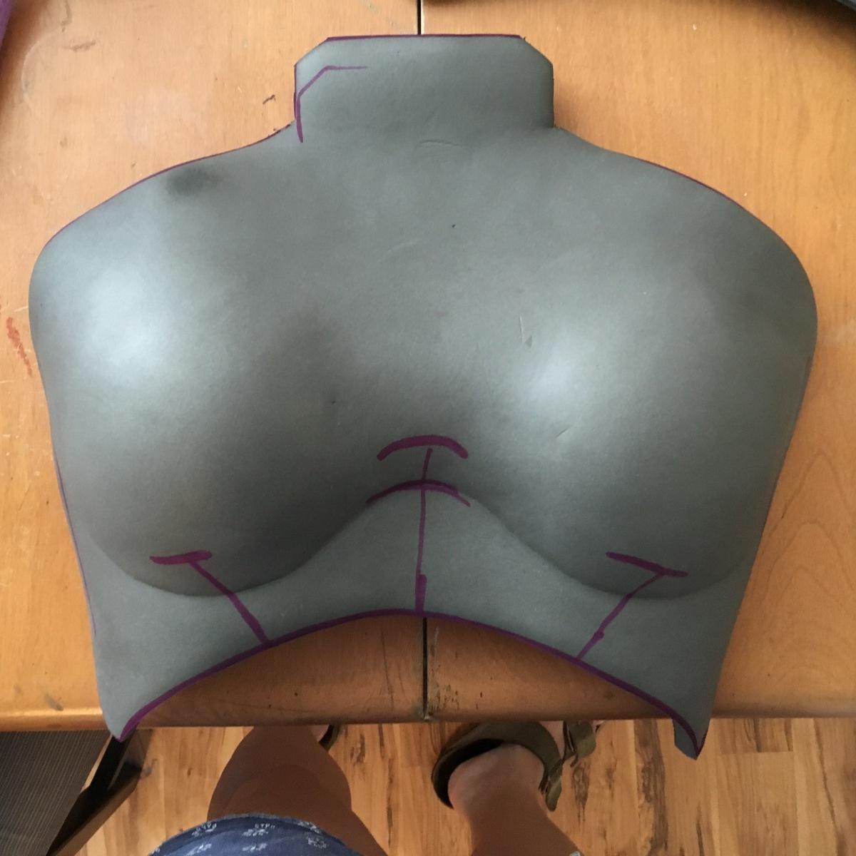 Mass Effect Armor Build- Liara breastplate