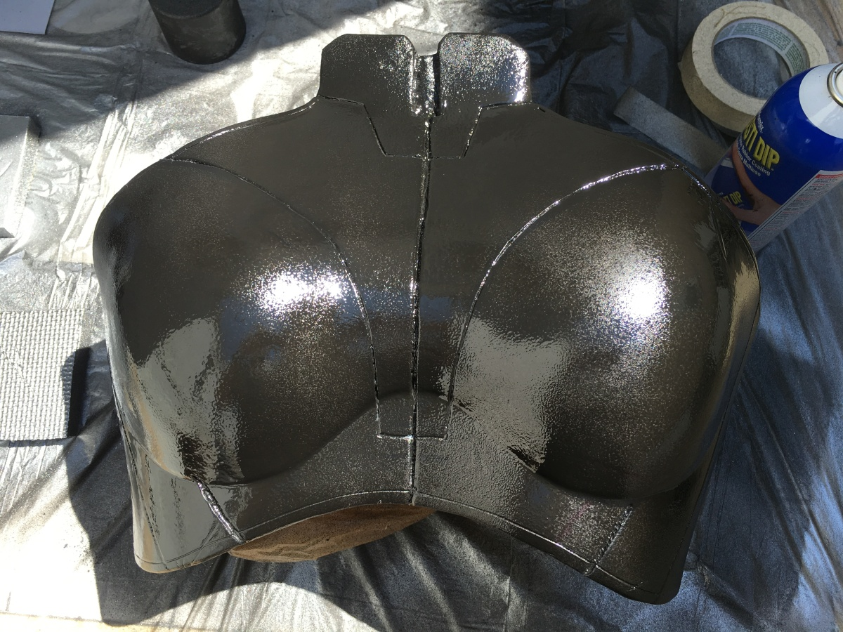 Mass Effect Armor Build- Liara breastplate plasti dip