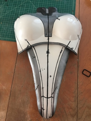 Mass Effect Armor Build- Liara breastplate with paint