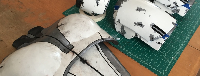 Mass Effect Armor Build- Liara breastplate and shoulders painted