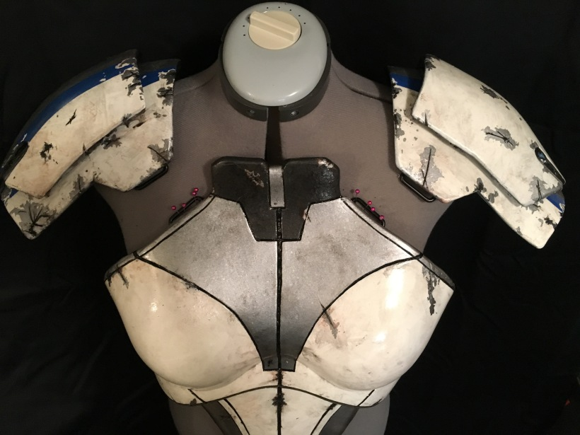 Mass Effect Armor Build- Liara breastplate shoulders