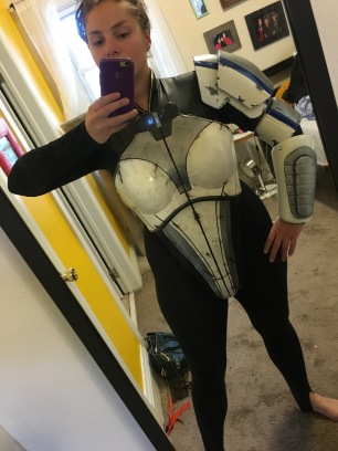 Mass Effect Armor Build- Liara breastplate, body suit, arm, shoulder